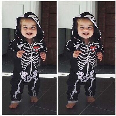 Baby Skelett Overall Kostüm für Kinder Karneval Fasching Halloween Cosplay
