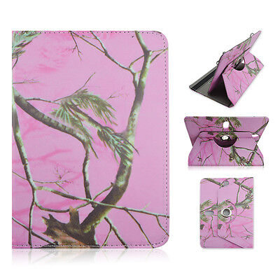 For Ematic Genesis Prime 8 inch Tablet Pink Camo Tree CASE COVER