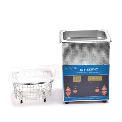 Professional Stainless Steel Ultrasonic Cleaner Heater Timer Bracket Jewelry 2l
