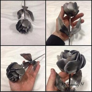 Hand made metal decorative flowers/custom metal art.