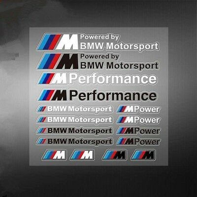 1Set New PVC M Motorsport Car Auto Sticker Decal Emblem Badge Fit for BMW M3 M5