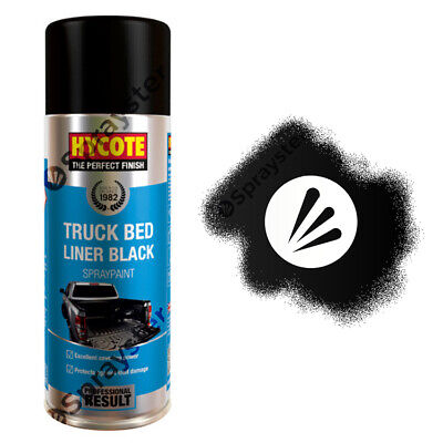 Hycote Truck Bed Liner Black Spray Paint Tough & Durable 400ml XUK989