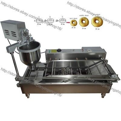 300-1200pcs Heavy Duty Electric Auto Donut Making Machine Doughnut Maker Fryer