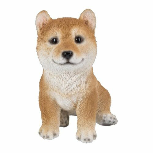 New PUPPY DOG Figurine Statue SHIBA INU Sitting Sculpture Figure HOME DECOR