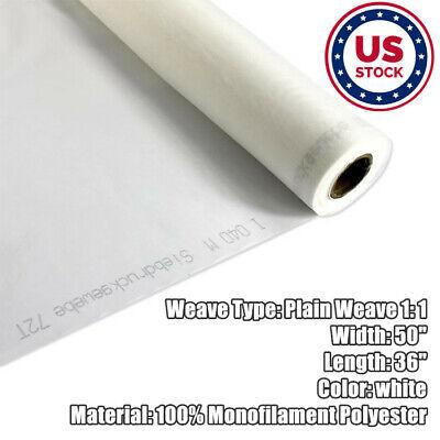 Us Stock 1 Yard 100 Mesh 50 Inches Width Silk Screen Fabric 40t For Screen Print