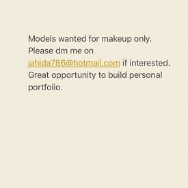 Model wanted in London for makeup only.