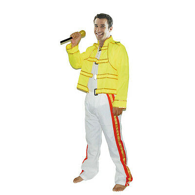 80's Freddie Mercury Costume Wembley Rock Star Mens Freddy Fancy Dress - Freddie Wembley Kostüm