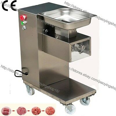 500kgh Ss 2.5-25mm Blade Electric Fresh Meat Cutter Slicer Processing Machine