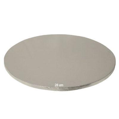 Tortenplatte / Cake Board Rund Silber 28 cm Cake Board