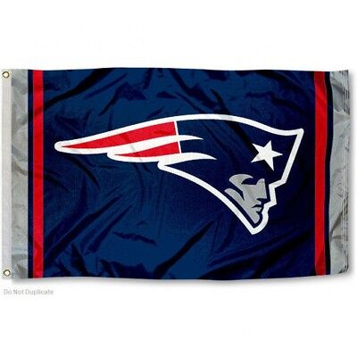 NEW ENGLAND PATRIOTS FLAG 3'X5' NFL TEAM LOGO BANNER: FREE SHIPPING - Patriots Flag