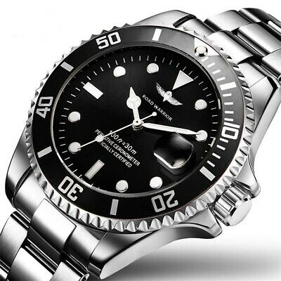 ROAD WARRIOR Best Men's wrist Watch Submariner DIVING Watch