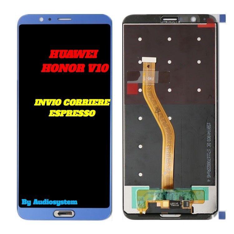 DISPLAY LCD+TOUCH SCREEN HUAWEI HONOR V10, 10 VIEW BLU BLUE VETRO BKL-AL20 AL00