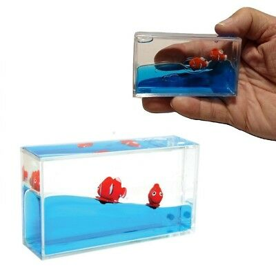 1 CLOWN FISH mini aquarium visual sensory toy fidget autism calming sped