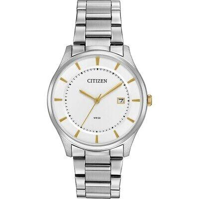Citizen Quartz Men's Gold Tone Markers Silver-Tone 39mm Watch BD0041-54B
