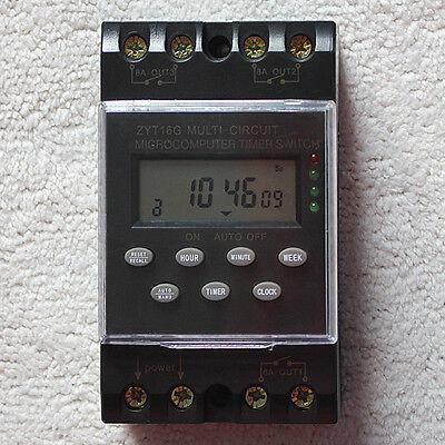 New Ac110v Zyt16g-3a Multi Channel Automatic Programprogrammable Timer Switch