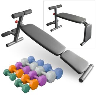 Sit Up Bench PLUS 30kg Dumbbell Set - BRAND NEW