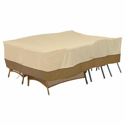 Classic Accessories Veranda 55-467-011501-00 Patio Furniture Set Cover, Pebble (Veranda, Patio Set)