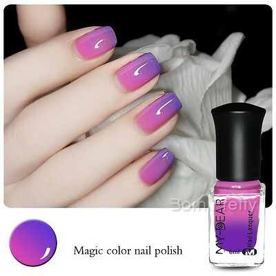 6ml Thermal Color Changing Nail Polish Peel Off Varnish Purple to ...