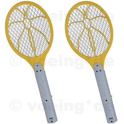 2 Stück Elektrische Fliegenklatsche Fliegen-Klatsche Insektenfalle Bug