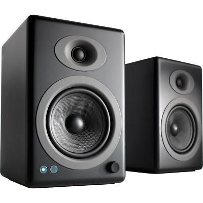 Audioengine A5+ Wireless 2-Way Active Bluetooth Bookshelf Speakers (Satin Black)