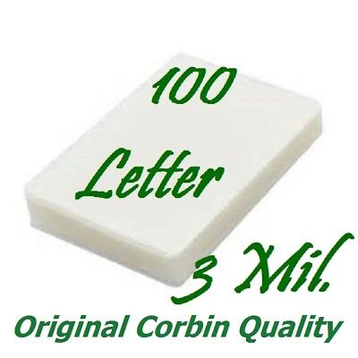 100 Letter Thermal Laminating Pouches Sheets 9 X 11-12 3 Mil Scotch Quality