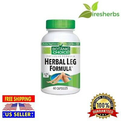 #1 BEST HERBAL LEG FORMULA Vitamin E Folate Blood Circulation Supplement 60