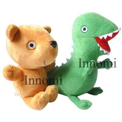 2Pcs Peppa Pig Teddy Bear George Dinosaur Plush Doll Stuffed Animal Toy 11  Tall