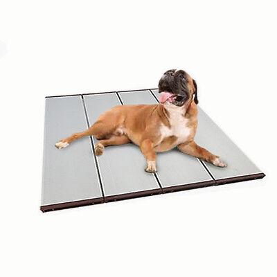 Foldable Hollow Pet Cooling Mat Dog Cooler Mat Ventilated Aluminum Alloy Materia