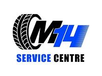 M14 Service Centre - Used Tyres / Part Worn / New Budget Tyres / Puncture Repair ( FREE TYRE CHECK )