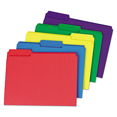 Universal Heavyweight File Folders 13 Cut One-ply Top Tab Letter Assorted 50
