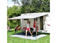 Roll out motorhome awning