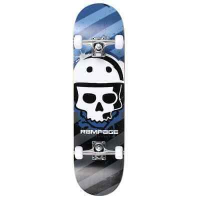 Rampage Skateboards Bonehead Blau Unisex Anfänger Komplett 20.3cm x 78.7cm