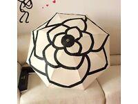 New with box/bag Chanel Umbrella VIP GIFT Black Camellia Pattern UK
