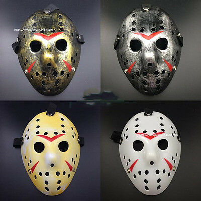 NEW Jason Voorhees Friday the 13th Horror Movie Hockey Mask Scary Halloween Mask