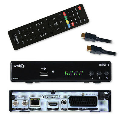 DVB-S2 Digital Receiver WWIO Trinity FullHD HD Sat HDTV HDMI USB LAN SCART