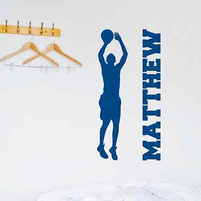 PERSONALIZED BASKETBALL PLAYER CUSTOM NAME BOY Quote Vinyl Wall Decal Sticker - Personalized Basketball