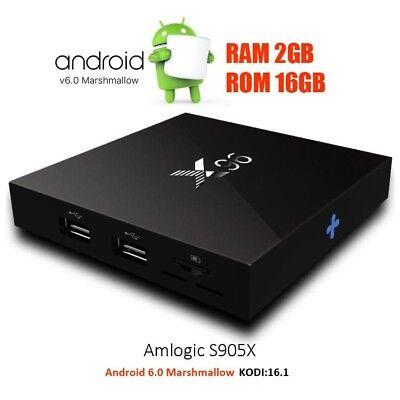 Android 6.1 TV Box 4 Core X96 Mini 4K 2GB/16G WIFI Smart Internet Playstore