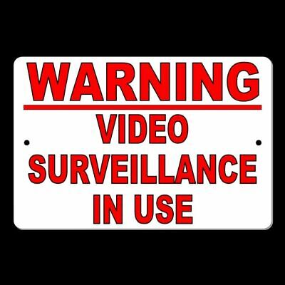 Warning Video Surveillance In Use Metal Sign Cctv Security Watched S010