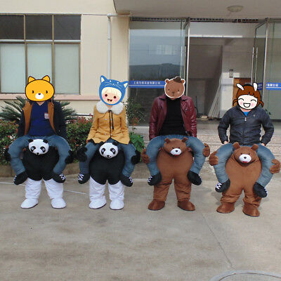 Ride On Mascot Costumes Suit Halloween Adults Dress Party Xmas Clothing - Party On Costumes