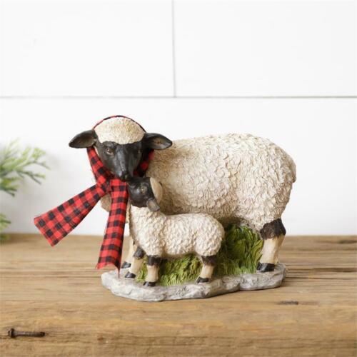 New Primitive Country MOM BABY SHEEP LAMB FIGURINE Farm Animal Figure