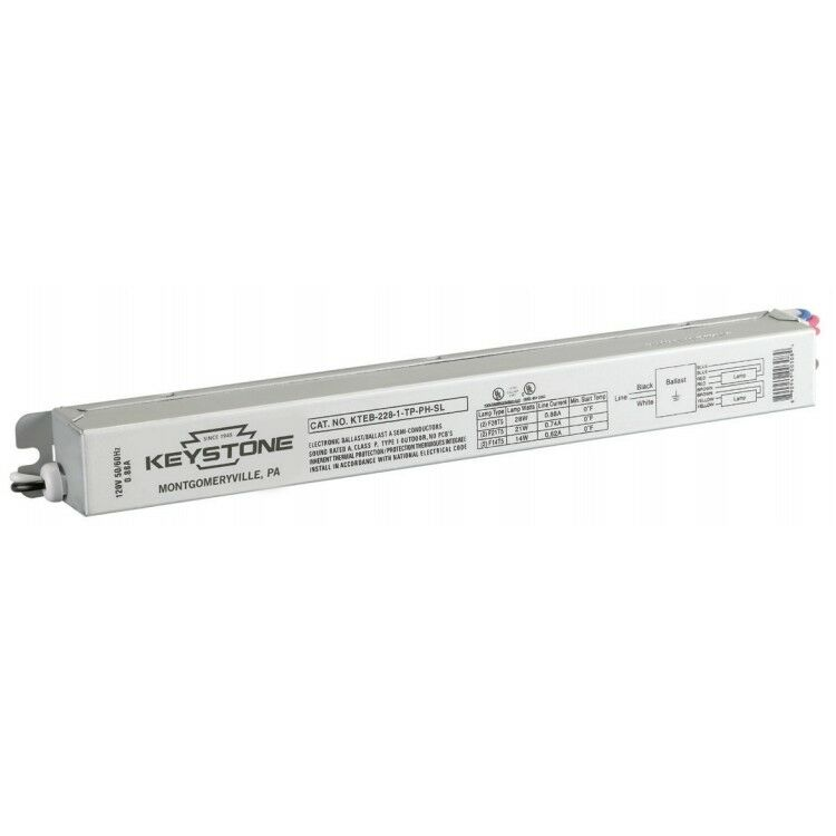 Keystone Kteb-228-1-tp-ph-sl Fluorescent Ballast 120v