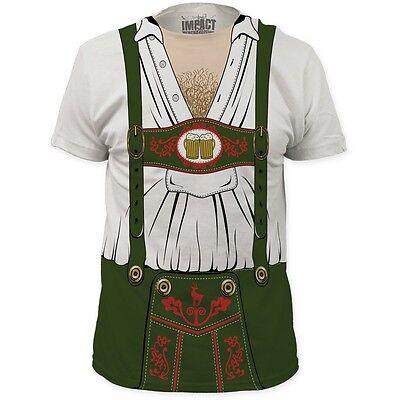 Behaarte Brust Shirt (Oktoberfest Bier Deutsch Holländisch Behaarte Brust Kostüm Outfit T-Shirt S-3XL)