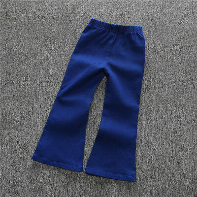 Wide Leg Kids Jeans (Fashion Girls Jeans Vintage Kids Baby bell-bottoms Trousers Wide leg)