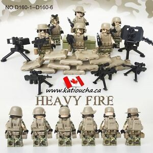 Call of duty! Soldiers Modern Combat Heavy Special Weapon LEGO..