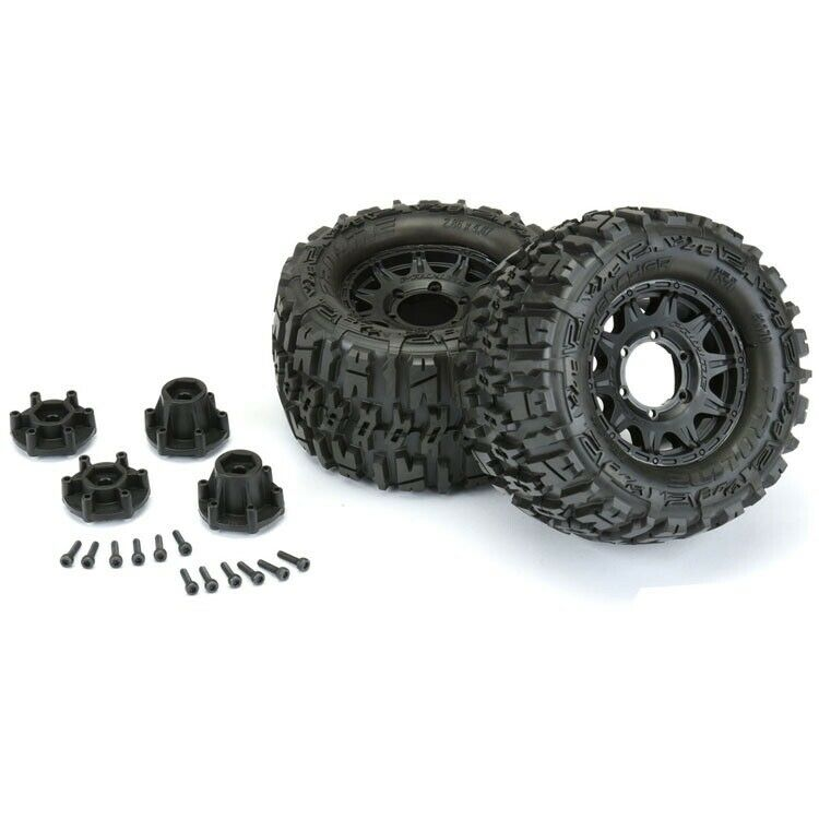 Pro-Line Trencher 2.8 Tires on Raid Front Rear Adjustable Offset Wheels 12mm Hex