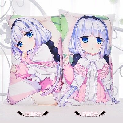 New Anime Miss Kobayashis Dragon Maid Loli Kanna Dakimakura Cushion Pillow Case