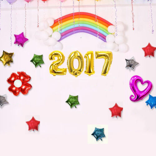 4pcs set 2017 year eve gold foil balloon number festival for Number 4 decorations