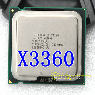 Used, Intel Xeon X3360 2.83GHZ 12M Exceeds Q9550 Q9650 X3350 Xeon Quad-Core 775 CPU for sale  China