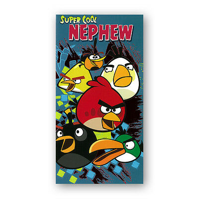 Angry Birds Birthday Card Nephew (Ref eb399) £2.92 incl. FREE 1st Class p&p