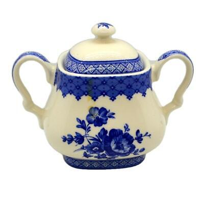 Churchill China Out of the Blue Lidded Urn Sugar Bowl